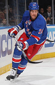 Ryan Malone of the New York Rangers skates against the Carolina Hurricanes at Madison Square Garden on October 16 2014 in New York City The New York...