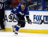 Ryan Malone of the Tampa Bay Lightning against the San Jose Sharks at the Tampa Bay Times Forum on January 18 2014 in Tampa Florida