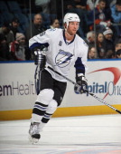 Ryan Malone of the Tampa Bay Lightning skates against the New York Islanders at the Nassau Coliseum on December 22 2010 in Uniondale New York