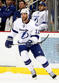 Ryan Malone of the Tampa Bay Lightning skates against the Pittsburgh Penguins during the game at Consol Energy Center on March 22 2014 in Pittsburgh...