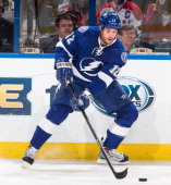Ryan Malone of the Tampa Bay Lightning skates against the Washington Capitals at the Tampa Bay Times Forum on January 9 2014 in Tampa Florida
