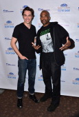 Ryan McCartan and Darryl 'DMC' McDaniels attends the 2014 Garden of Dreams Talent Show rehearsals at Radio City Music Hall on May 28 2014 in New York...