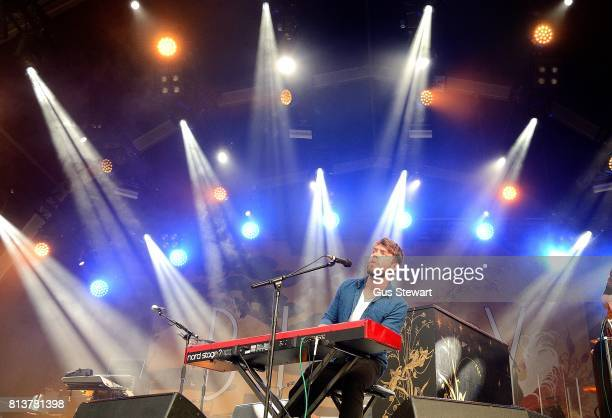 Ryan McCloskey of Little Hours performing during the Somerset House Summer Series at Somerset House on July 12 2017 in London England