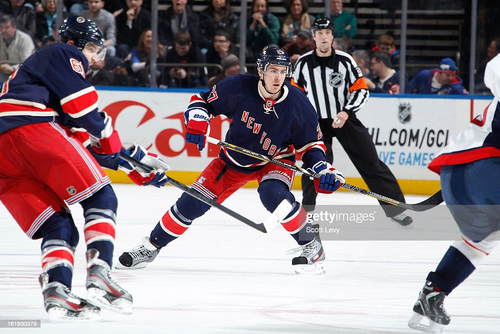 <a gi-track='captionPersonalityLinkClicked' href=/galleries/search?phrase=Ryan+McDonagh&family=editorial&specificpeople=4324983 ng-click='$event.stopPropagation()'>Ryan McDonagh</a> #27 of the New York Rangers skates against the Washington Capitals at Madison Square Garden on February 17, 2013 in New York City. The Rangers defeat the Capitals 2-1.