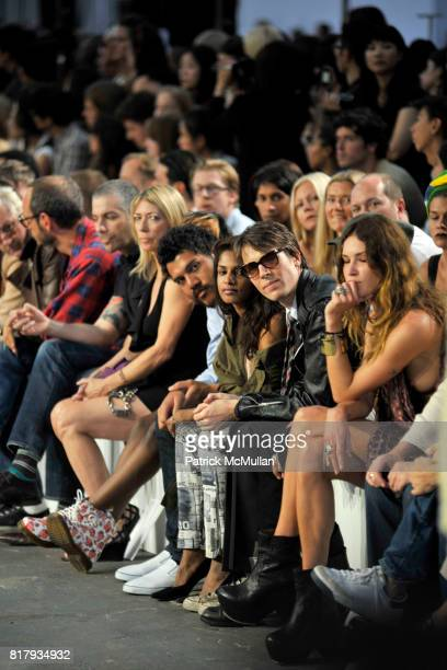 MIA Ryan McGinley and Erin Wasson attend ALEXANDER WANG Spring 2011 Fashion Show at Pier 94 West Side Highway on September 11 2010 in New York City