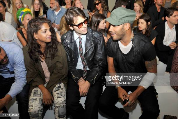 MIA Ryan McGinley and Lenny Kravitz attend ALEXANDER WANG Spring 2011 Fashion Show at Pier 94 West Side Highway on September 11 2010 in New York City
