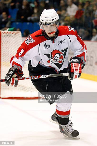 Ryan McKiernan of the Drummondville Voltigeurs skates during the game against the Saint John Sea Dogs at the Marcel Dionne Centre on November 20 2009...