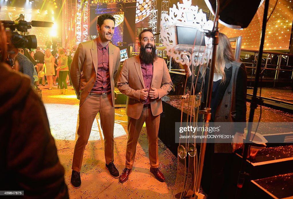 Ryan Merchant and Sebu Simonian of Capital Cities attend Dick Clark's New Year's Rockin' Eve with Ryan Seacrest 2014 on December 31 2013 in Los...