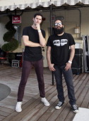 Ryan Merchant and Sebu Simonian of Capital Cities attend the ALT 987FM penthouse party concert series at The Historic Hollywood Tower on July 29 2014...