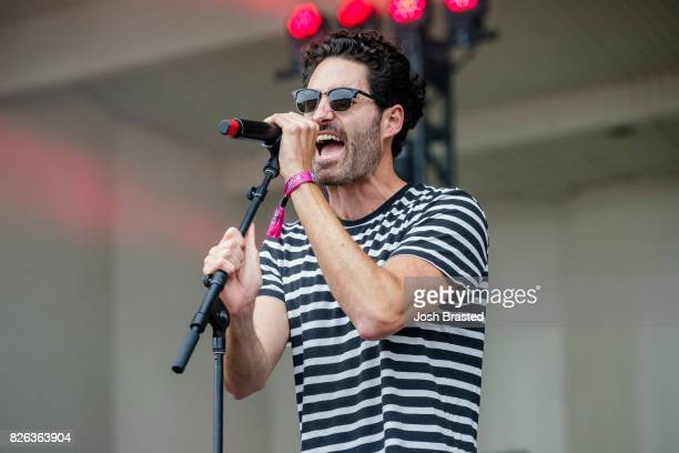 Ryan Merchant of Capital Cities performs during Lollapalooza 2017 at Grant Park on August 3 2017 in Chicago Illinois