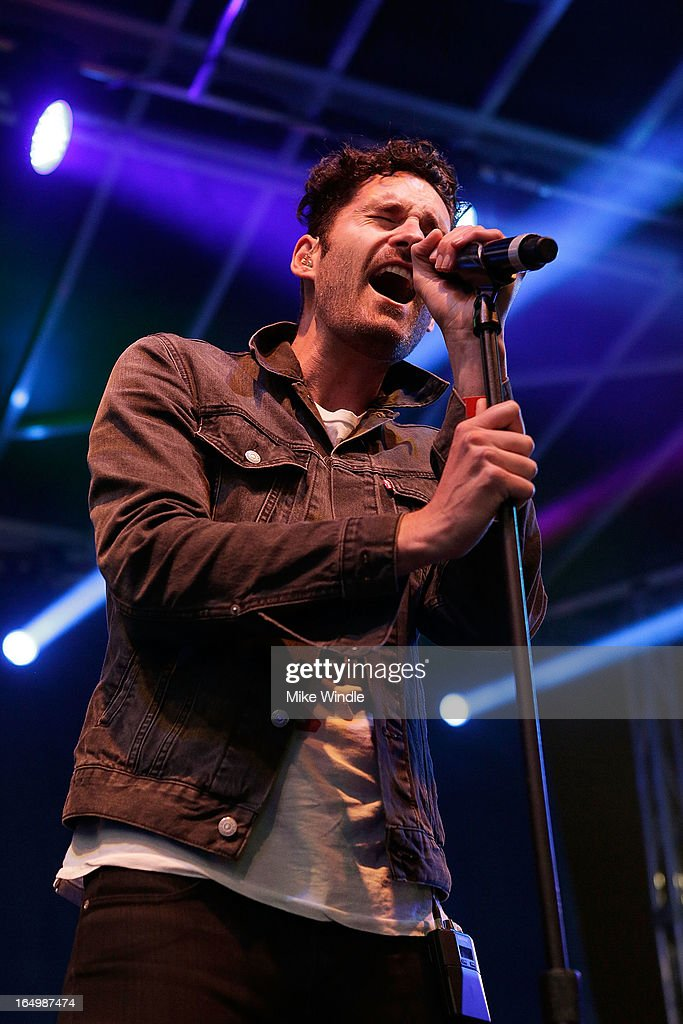 Ryan Merchant of Capital Cities performs during the L.A. LIVE College Basketball Fan Fest at Nokia Plaza L.A. LIVE on March 29, 2013 in Los Angeles, California.