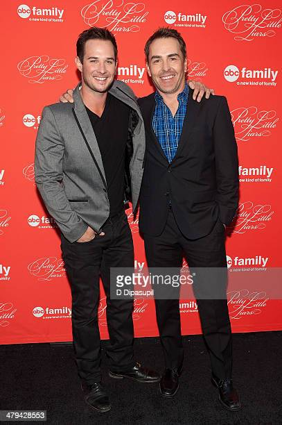 Ryan Merriman and Nolan North attend the 'Pretty Little Liars' season finale screening at Ziegfeld Theater on March 18 2014 in New York City