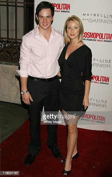 Ryan Merriman and wife Micol during Cosmopolitan Presents Its Fun Fearless Male Awards Arrivals at Day After in Hollywood California United States