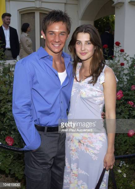 Ryan Merriman Cobie Smulders during ABC 2002 Summer Press Tour All Star Party at Tournament House in Pasadena California United States