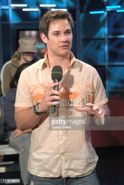 Ryan Merriman during Justin Berfield and Ryan Merriman Visit Fuse's 'Daily Download' February 7 2006 at FUSE Studios in New York City New York United...
