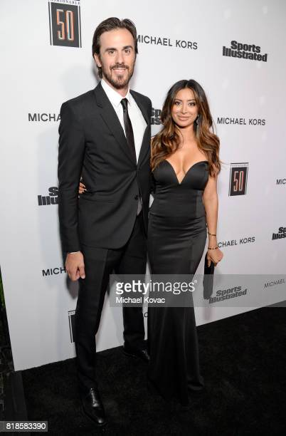 Ryan Miller and Noureen DeWulf at Sports Illustrated 2017 Fashionable 50 Celebration at Avenue on July 18 2017 in Los Angeles California