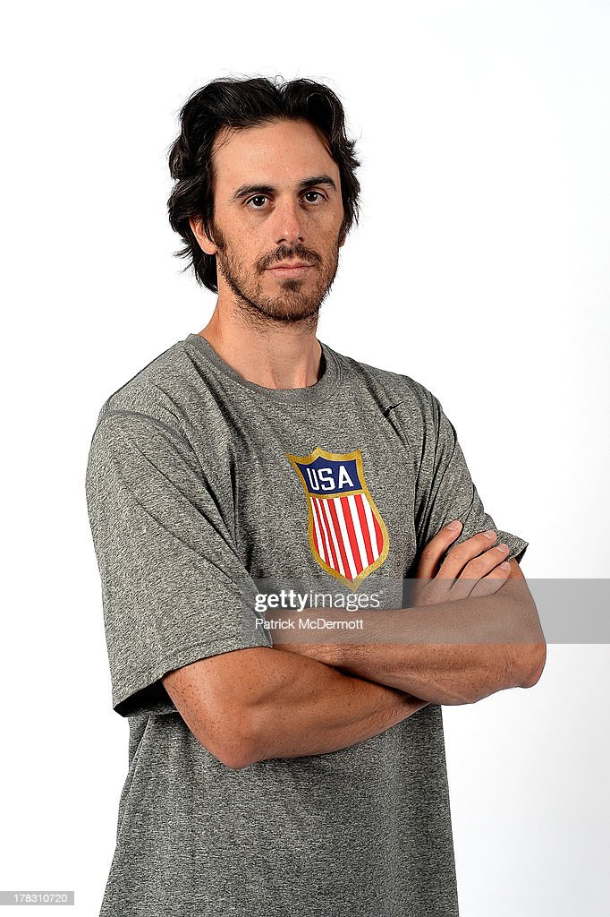 Ryan Miller poses after being named a candidate for the 2014 USA Hockey Olympic Team at the Kettler Capitals Iceplex on August 26, 2013 in Arlington, Virginia.