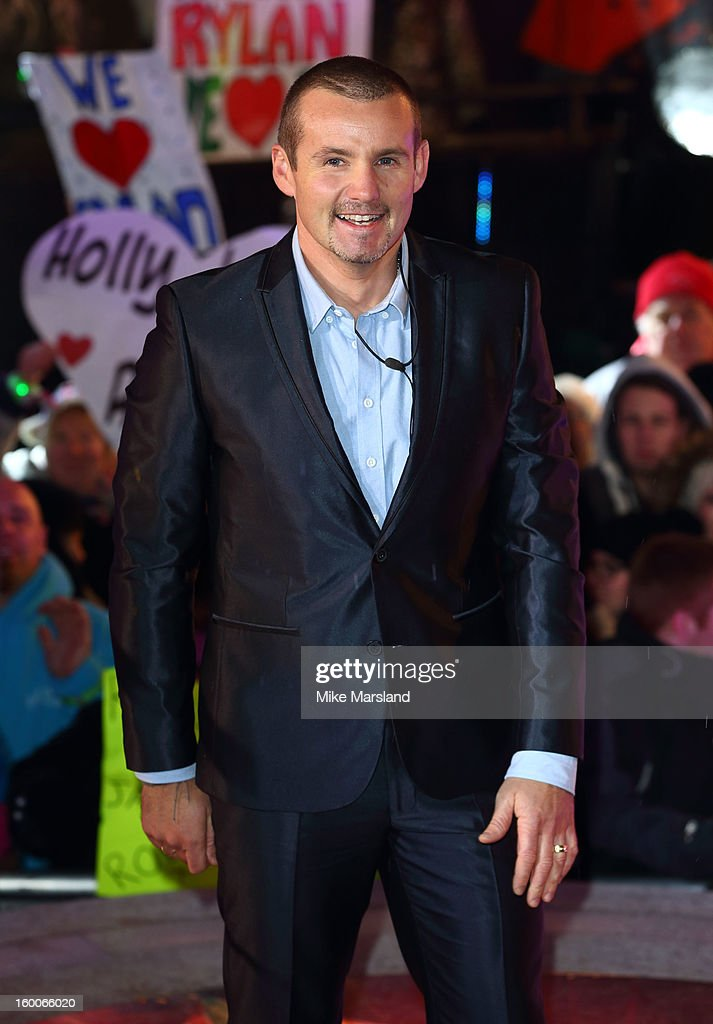 Ryan Moloney evicted from the Celebrity Big Brother House at Elstree Studios on January 25, 2013 in Borehamwood, England.