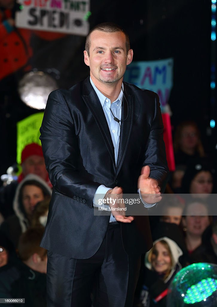 Ryan Moloney is evicted from the Celebrity Big Brother House at Elstree Studios on January 25, 2013 in Borehamwood, England.