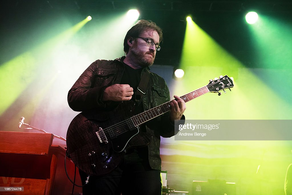 Ryan Monroe of Band of Horses performs on stage at Manchester Academy on November 19, 2012 in Manchester, United Kingdom.