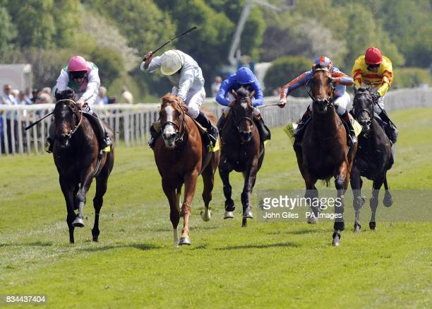 Ryan Moore and Tartan Bearer win the totesportcom Dante Stakes ahead of Frozen Fire and Johnny Murtagh with the favourite Twice Over and Ted Duncan...