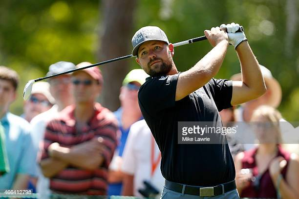Ryan Moore hits off the second tee during the final round of the Valspar Championship at Innisbrook Resort Copperhead Course on March 15 2015 in Palm...