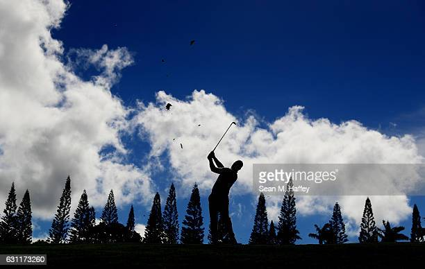 Ryan Moore of the United States plays a shot on the 14th hole during the third round of the SBS Tournament of Champions at the Plantation Course at...