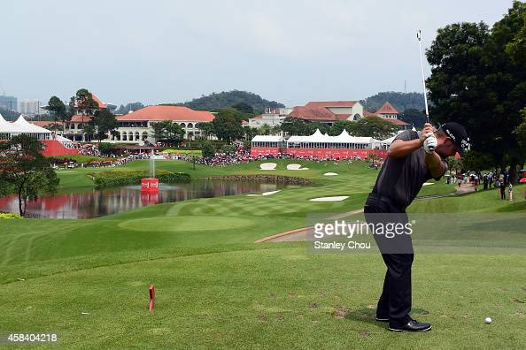 Ryan Moore of United States plays on on the 18th hole during day four of the 2014 CIMB Classic at Kuala Lumpur Golf Country Club on November 2 2014...