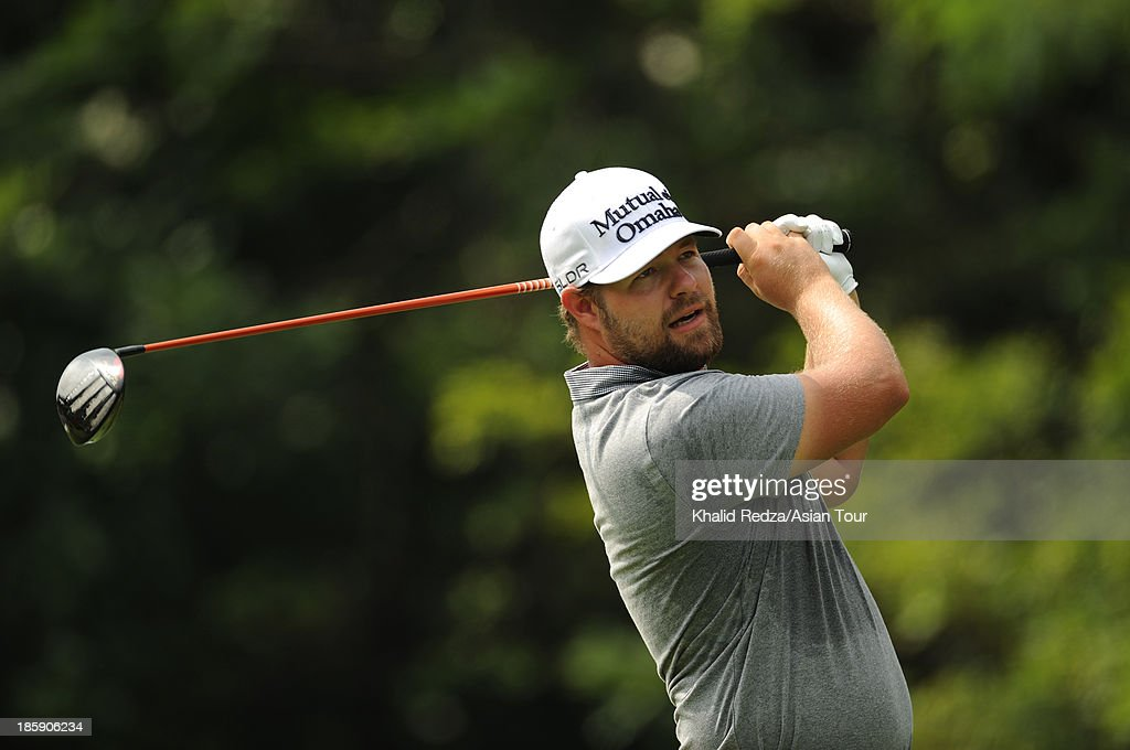 Ryan Moore of USA in action during round three of the CIMB Classic at Kuala Lumpur Golf & Country Club on October 26, 2013 in Kuala Lumpur, Malaysia.
