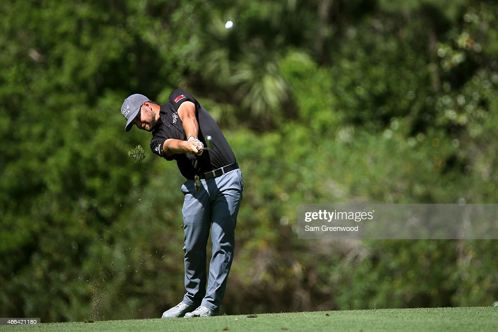 Ryan Moore plays a shot on the seventh hole during the final round of the Valspar Championship at Innisbrook Resort Copperhead Course on March 15, 2015 in Palm Harbor, Florida.
