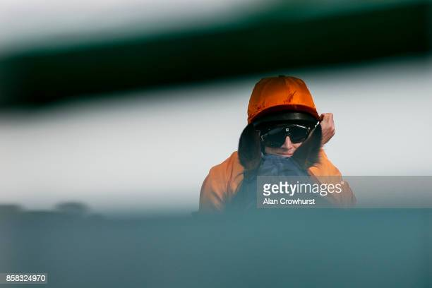 Ryan Moore poses at Ascot racecourse on October 6 2017 in Ascot United Kingdom