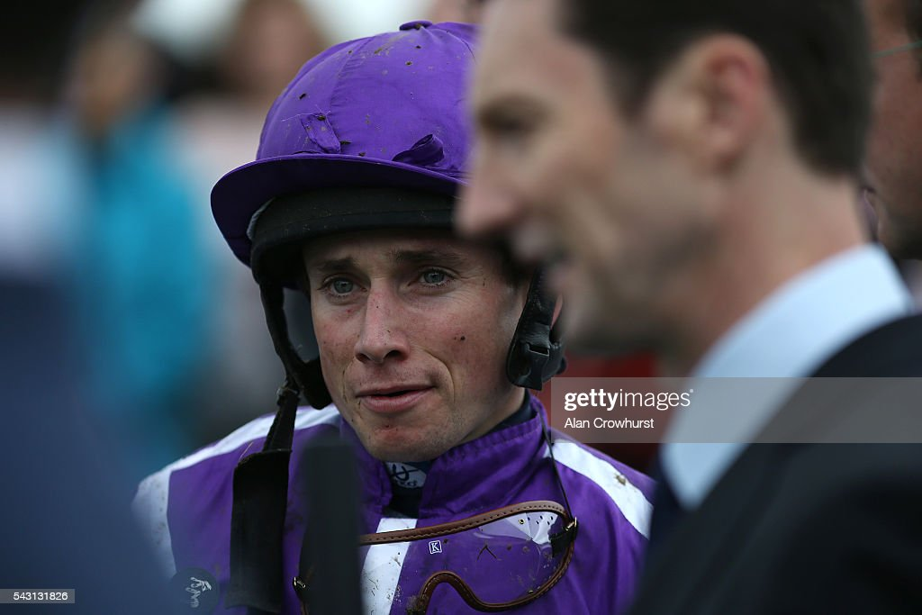 <a gi-track='captionPersonalityLinkClicked' href=/galleries/search?phrase=Ryan+Moore+-+Jockey&family=editorial&specificpeople=11563713 ng-click='$event.stopPropagation()'>Ryan Moore</a> poses at Curragh Racecourse on June 26, 2016 in Kildare, Ireland.