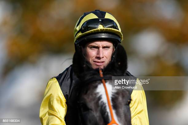 Ryan Moore poses at Newmarket racecourse on September 28 2017 in Newmarket United Kingdom