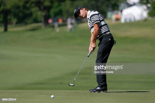 Ryan Moore putts on during the first round of the Dean Deluca Invitational on May 25 2017 at Colonial Country Club in Fort Worth TX