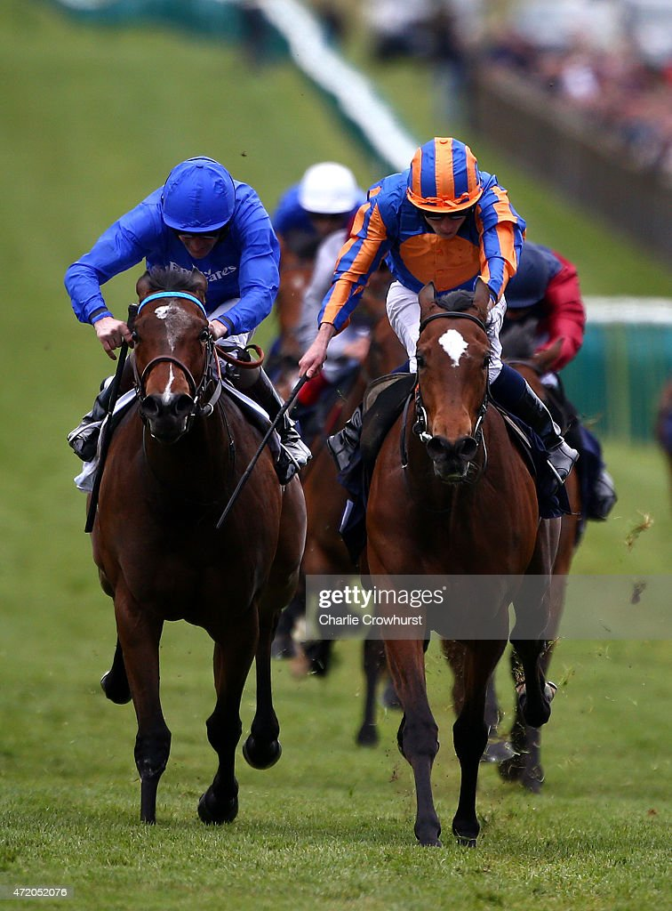 Ryan Moore rides Legatissimo to win TheQipco 1000 Guineas Stakes at Newmarket racecourse on May 03 2015 in Newmarket England