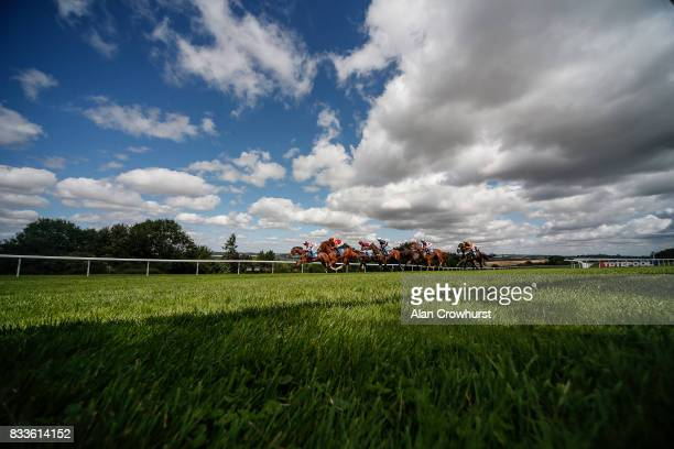 Ryan Moore riding Autumn Leaves on their way to winning The Bet toteplacepot At betfredcom Maiden Auction Fillies' Stakes at Salisbury racecourse on...