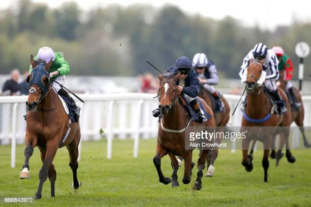 Ryan Moore riding Captain Peacock win The BGC Racing Membership 125 Handicap Stakes at Windsor Racecourse on April 10 2017 in Windsor England