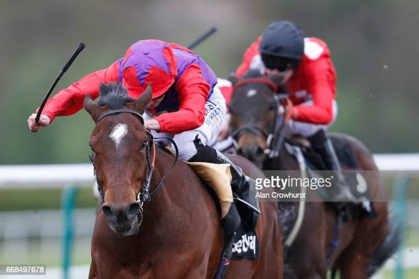 Ryan Moore riding Convey win The Betway Easter Classic AllWeather Championships Conditions Stakes during The All Weather Championships Finals Day at...
