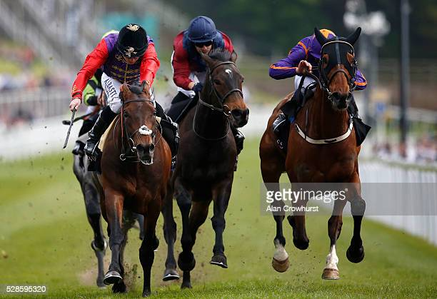 Ryan Moore riding Dartmouth win The Boodles Diamond Ormonde Stakes at Chester racecourse on May 6 2016 in Chester England