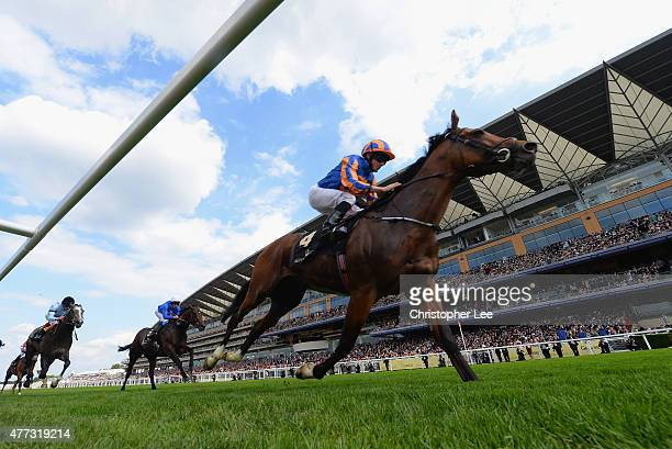Ryan Moore riding Gleneagles wins The St James's Palace Stakes during Day 1 of Royal Ascot 2015 at Ascot Racecourse on June 16 2015 in Ascot England