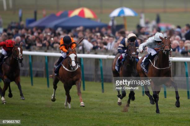 Ryan Moore riding Permian win The Havana Gold Newmarket Stakes at Newmarket Racecourse on May 6 2017 in Newmarket England