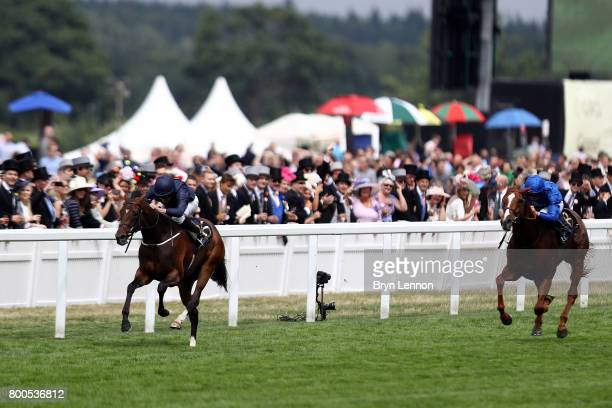 Ryan Moore riding Spetember on his way to winning The Chesham Stakes on day five of Royal Ascot 2017 at Ascot Racecourse on June 24 2017 in Ascot...