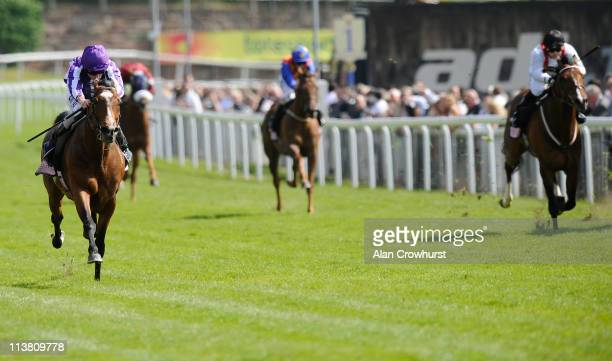 Ryan Moore riding St Nicholas Abbey win the Boodles Diamond Ormonde Stakes at Chester racecourse on May 06 2011 in Chester England
