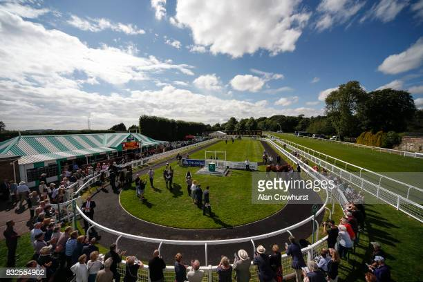 Ryan Moore riding Surrey Hope after winning The Brunton Publications Pembroke Cup Handicap Stakes at Salisbury racecourse on August 16 2017 in...
