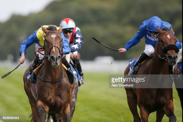 Ryan Moore ridng Ballet Concerto win The totepool Sovereign Stakes at Salisbury racecourse on August 17 2017 in Salisbury England