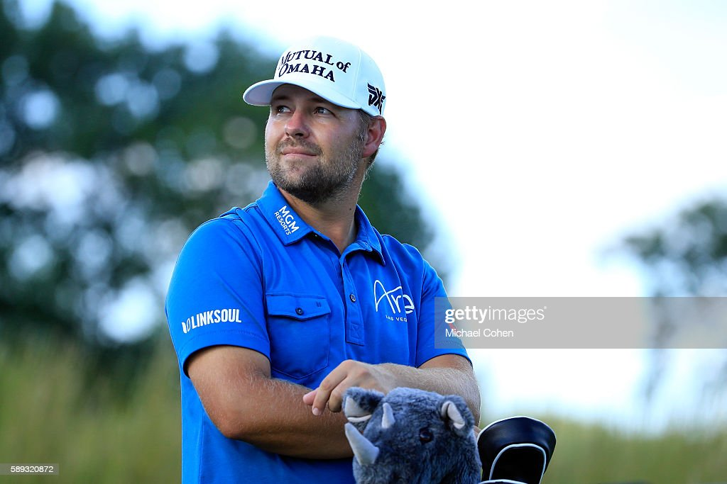 Ryan Moore waits on the ninth tee during the third round of the John Deere Classic at TPC Deere Run on August 13 2016 in Silvis Illinois