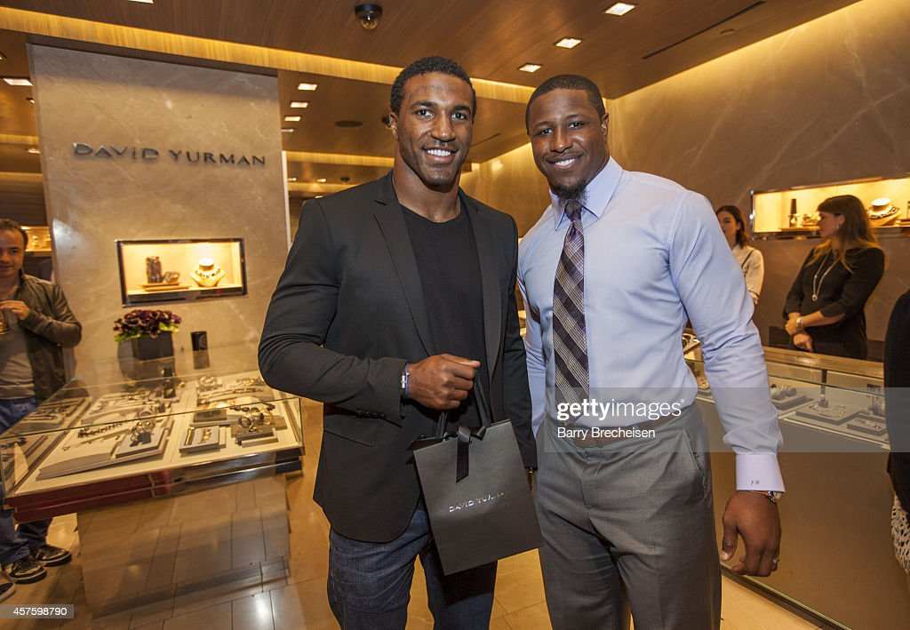 David Yurman With Jon Bostic Host An In-Store Event To Celebrate The Launch Of The Men's Forged Carbon Collection In Chicago, Illinois