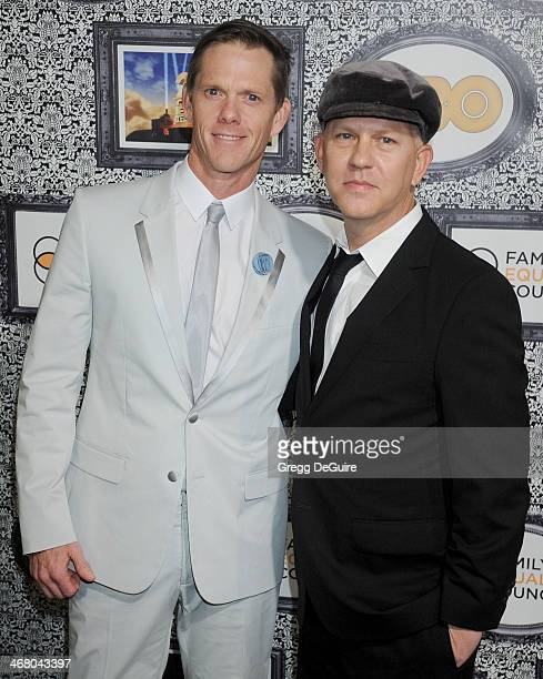 Ryan Murphy and David Miller arrive at the Family Equality Council's Annual Los Angeles Awards Dinner at The Globe Theatre on February 8 2014 in...