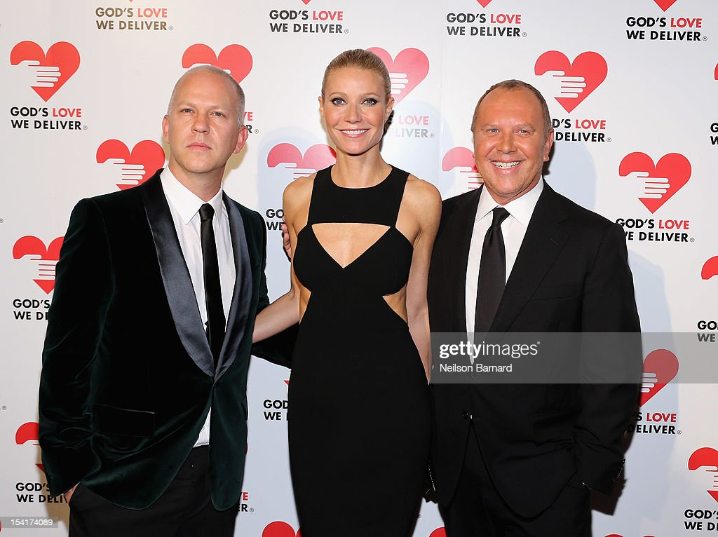 Ryan Murphy, <a gi-track='captionPersonalityLinkClicked' href=/galleries/search?phrase=Gwyneth+Paltrow&family=editorial&specificpeople=171431 ng-click='$event.stopPropagation()'>Gwyneth Paltrow</a> and designer Michael Kors attend the Michael Kors- Golden Heart Gala at Cunard Building on October 15, 2012 in New York City.