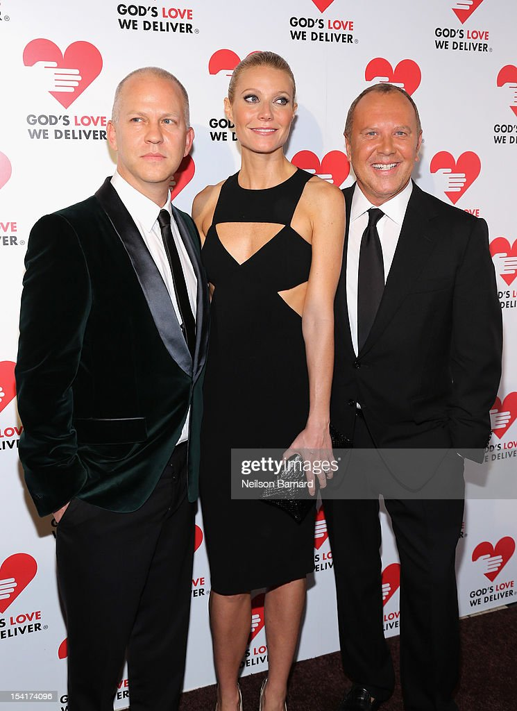 Ryan Murphy, Gwyneth Paltrow and designer Michael Kors attend the Michael Kors- Golden Heart Gala at Cunard Building on October 15, 2012 in New York City.